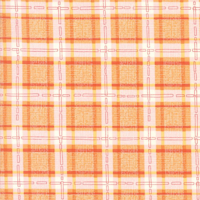 Abby Rose Orange Check